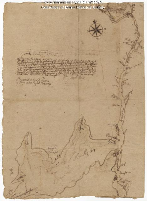 Norridgewock Fort and Kennebec River, 1719