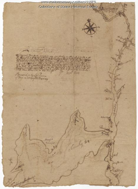 Norridgewock Fort and Kennebec River, 1719
