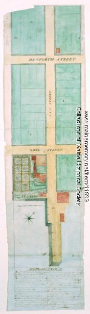 Plan of Ann (now Park) Street, Portland, ca. 1802