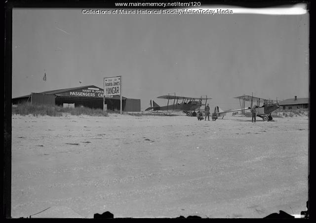 Aviator Jones Hangar, Old Orchard Beach, ca. 1920