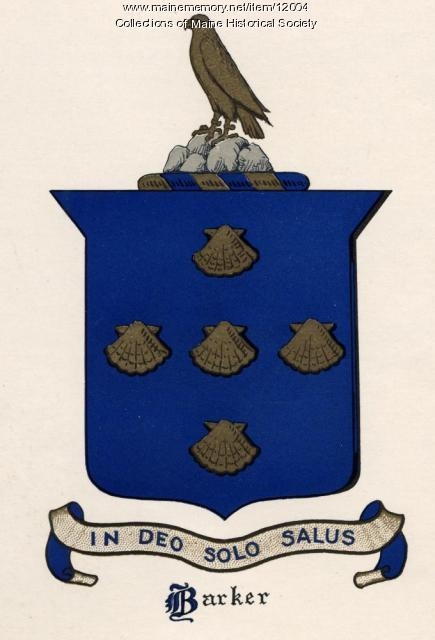 Barker coat of arms, c. 1927