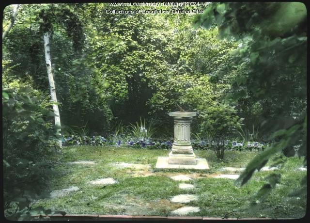 Longfellow Garden sundial, Portland, ca. 1935