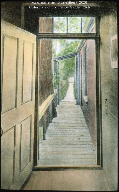 Wadsworth-Longfellow house back door, Portland, ca. 1935