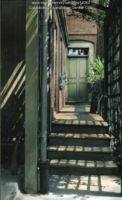 Wadsworth-Longfellow house back door, Portland, ca. 1930