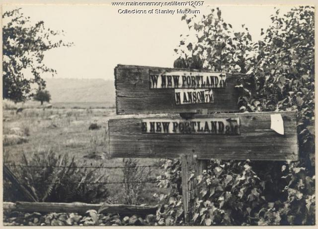 Sign Board, New Portland, ca. 1931