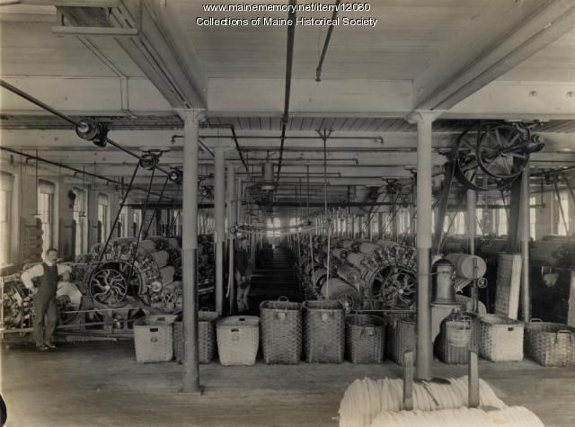 Interior view of mill, ca. 1890