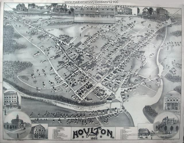 Map of Houlton, 1887