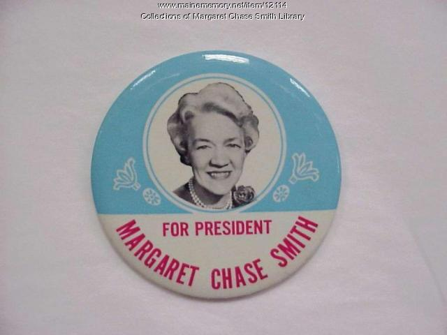 Margaret Chase Smith for President Campaign Button, 1964
