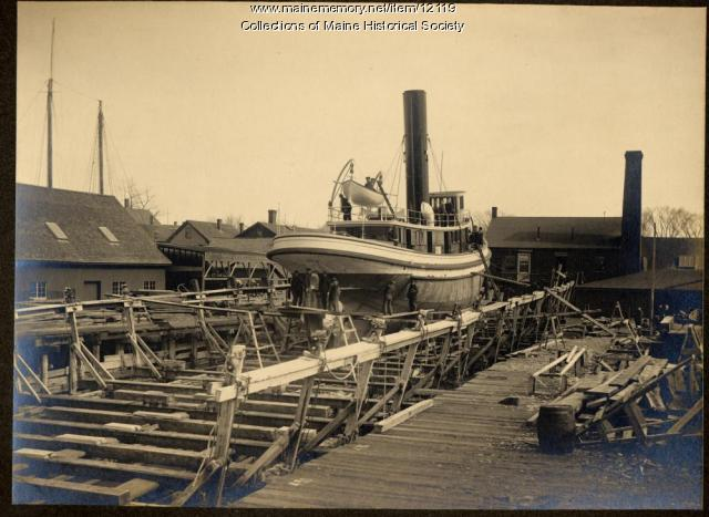 Towboat Orion, South Portland, ca. 1905