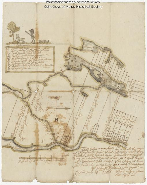 Cobbosseecontee Stream copied July 29, 1765, map 2