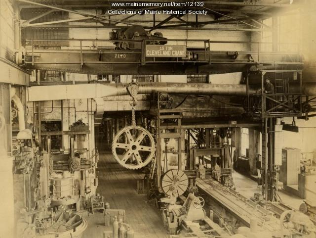 Portland Company machine shop, ca. 1900