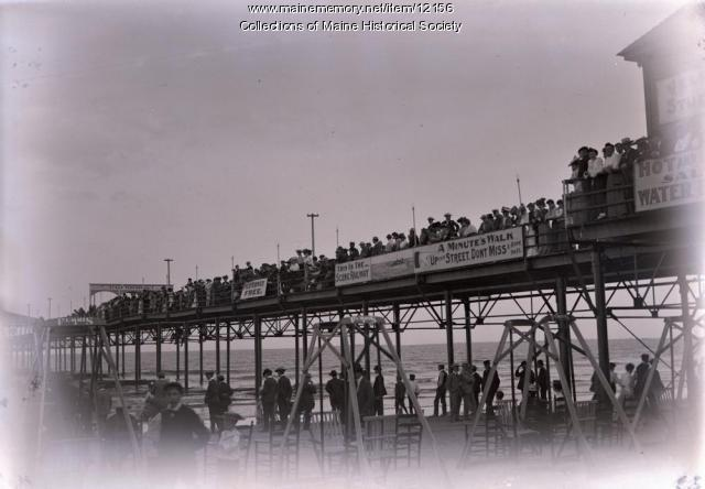 Pier at Old Orchard Beach, 1903