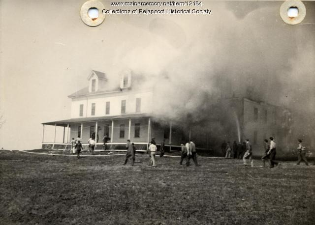 Fire at Domhegan, 1940