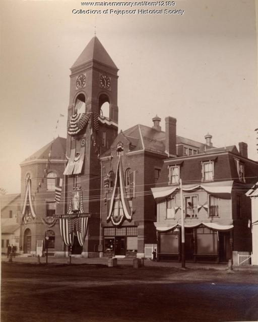 Old Brunswick Town Hall, 1889