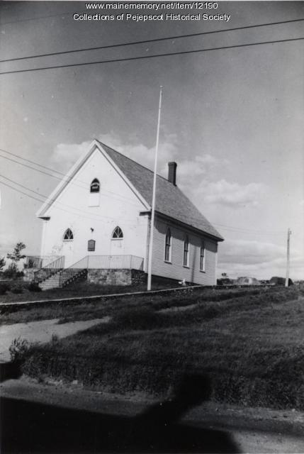 The Little White Church, Bailey Island, 1938