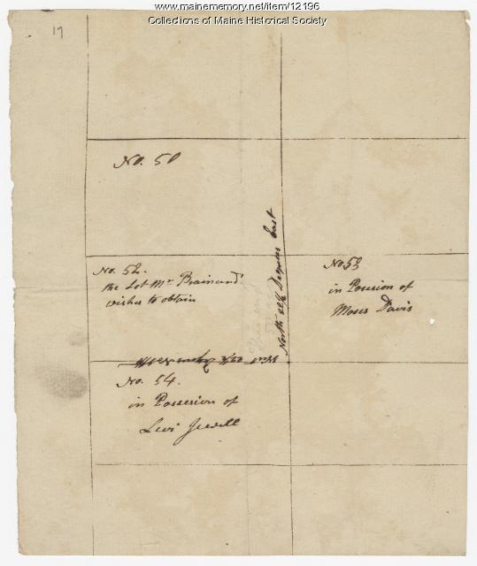 Map of Kennebec Purchase lots, ca. 1750