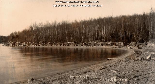 Nicolin Beach Branch Pond, Ellsworth, ca. 1920