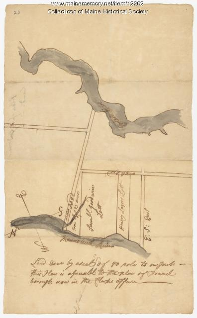 Plan of Samuel Goodwin's land, Dresden, ca. 1760