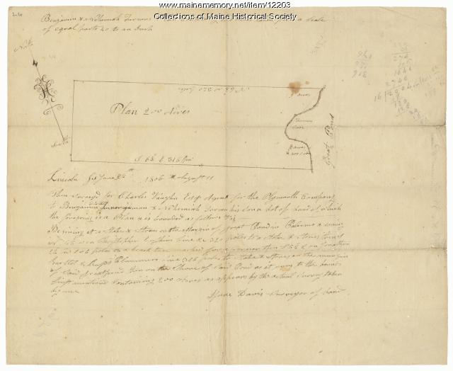 Benjamin and Nehemiah Turner's plan containing 200 acres, Palermo, 1806