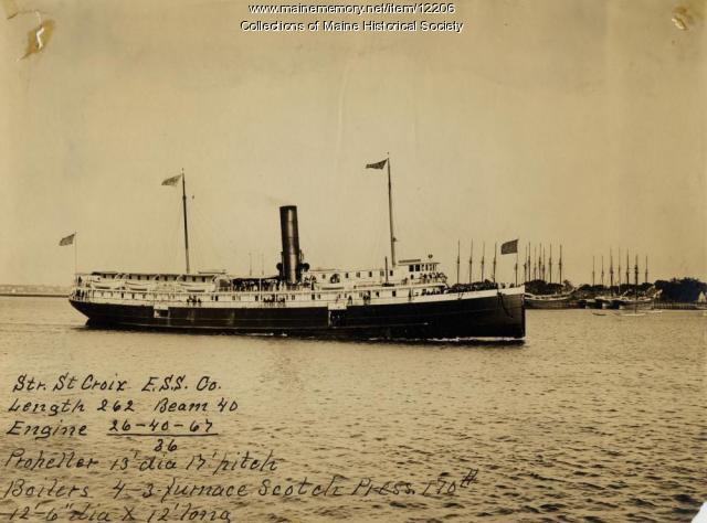 The Steamer St. Croix, Portland Company, ca. 1895