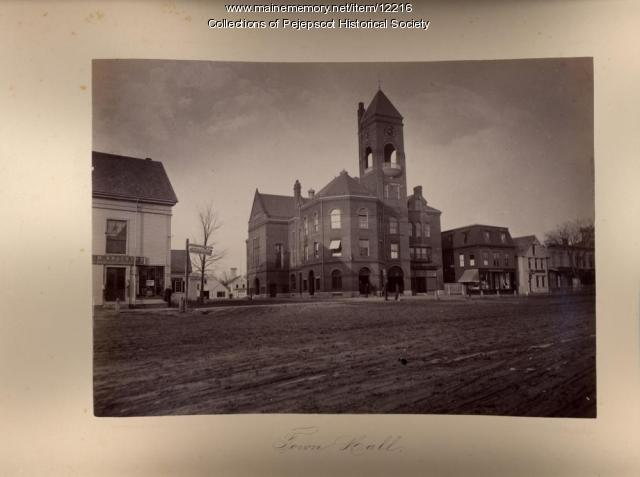 Brunswick Town Hall, ca. 1890