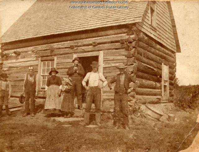 Log Cabin near Caribou, ca. 1895