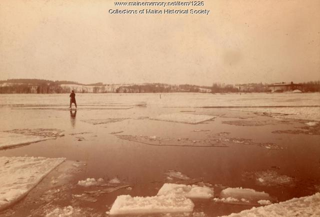 Ice harvesting, Kennebec River, ca. 1895