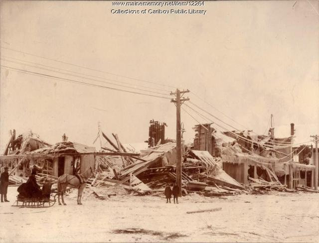 Fire in Caribou, 1890