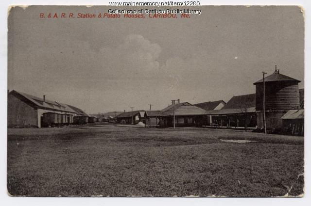 Bangor and Aroostook Railroad station, Caribou, ca. 1920