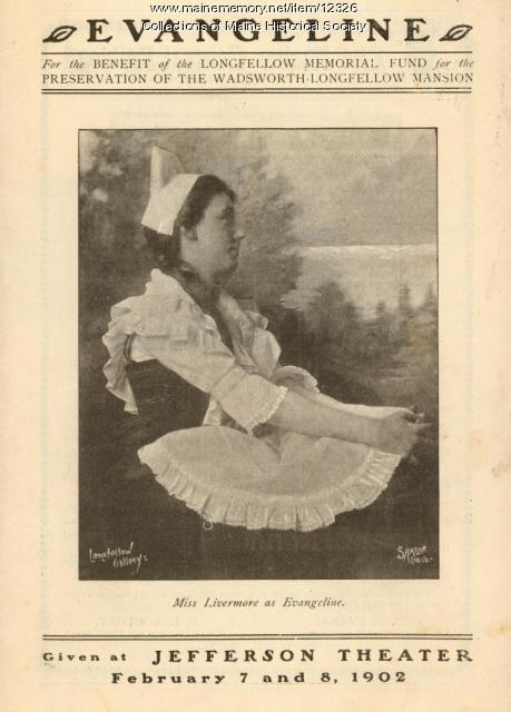 Theater Program for Evangeline, 1902
