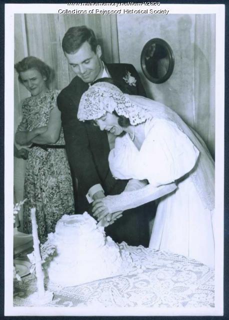 Johnson wedding, Brunswick, 1945