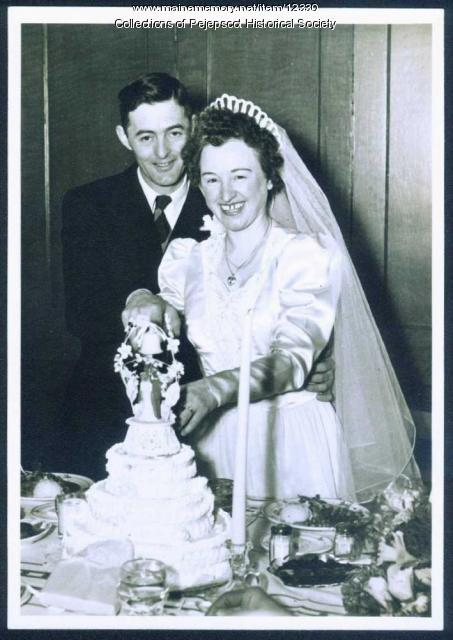 Wedding of George Livernois, Brunswick, ca. 1945