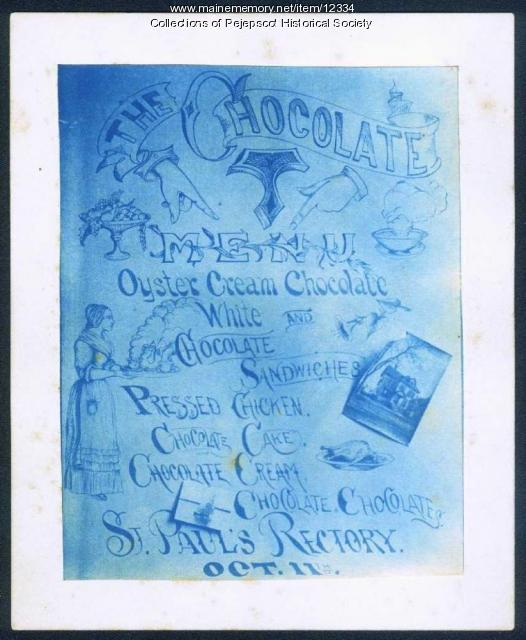 Chocolate Menu, Brunswick, ca. 1870