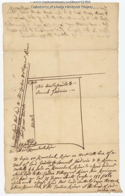 Tract granted to Samuel Goodwin, ca. 1757