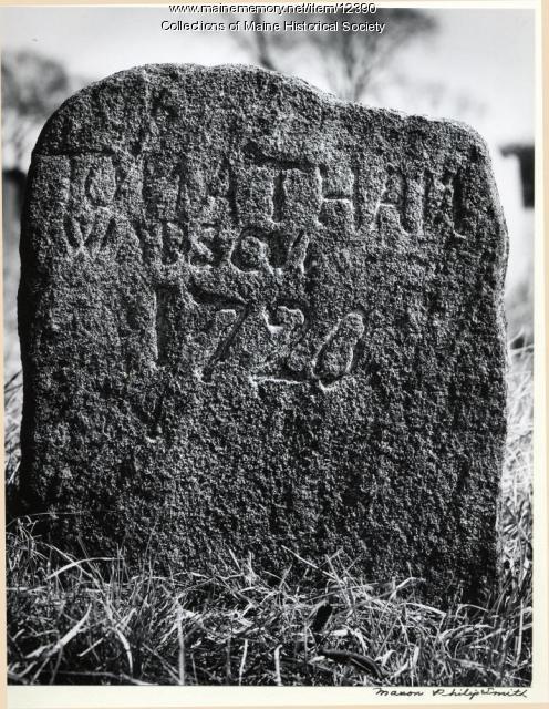 Field stone, 1728, Eastern Cemetery, Portland, 1966