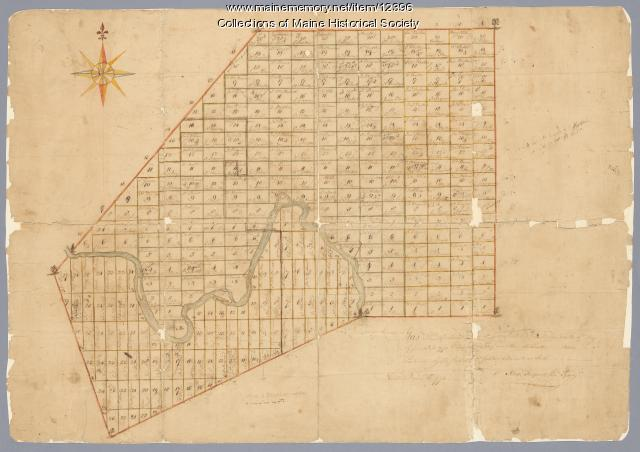 Androscoggin River area map, 1771