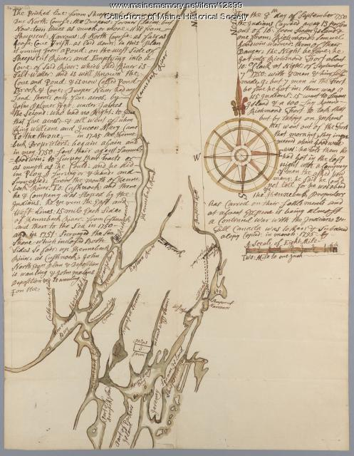 Map of Draper's Claim, near Bath, 1795