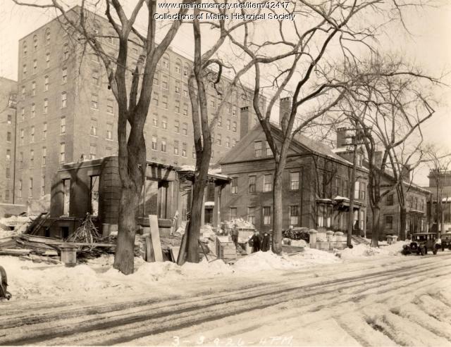 Demolition, High Street, Portland, 1926