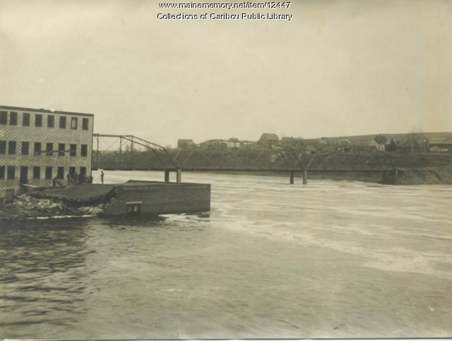 Aroostook River flood, Caribou, 1923
