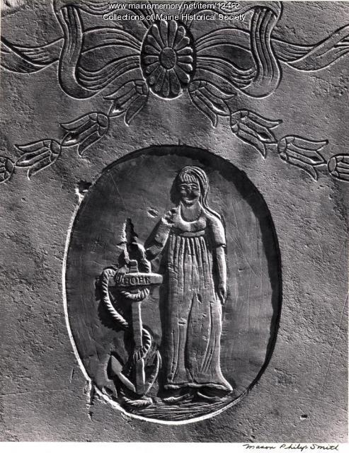 Headstone, 1806, Priscilla Slater, Portland, 1965