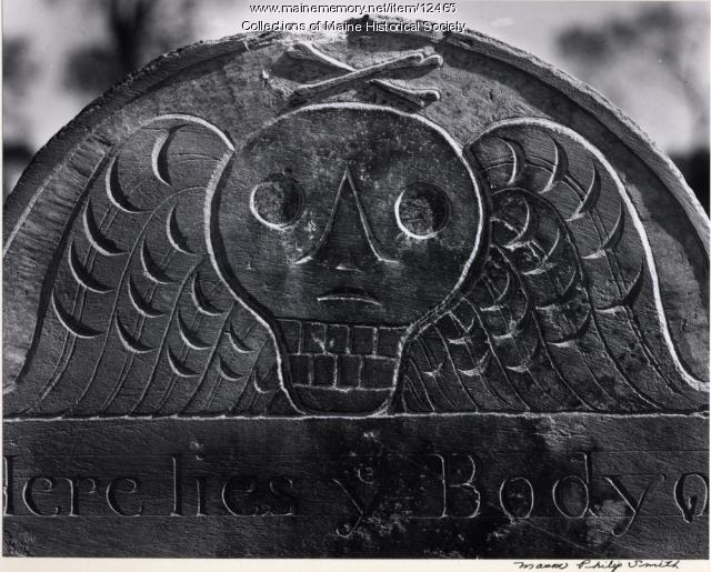 Mary McLellan headstone from 1764, Portland, 1966