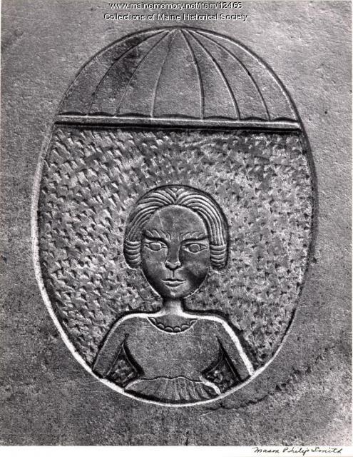 Headstone of Rebeckah Lewis, 1788, Portland, 1965
