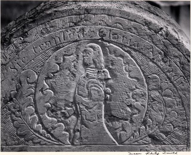 Joseph Stockbridge headstone, Portland, 1761