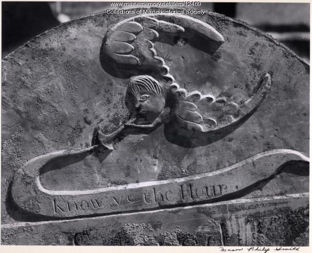 Deacon Samuel Ford headstone, 1787, Woolwich, 1965