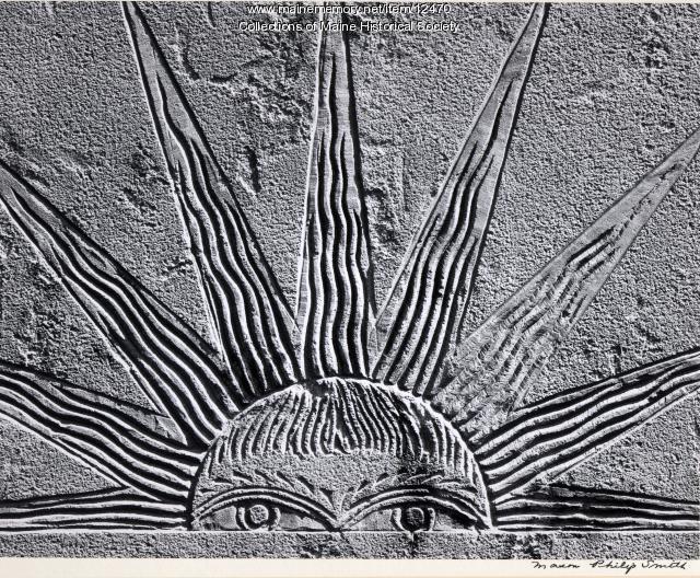 Headstone of Joshua Allen, 1805, Portland, 1966