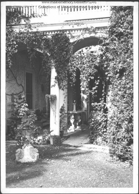 Patio, Ethelbert Nevin estate, Blue Hill, 1937