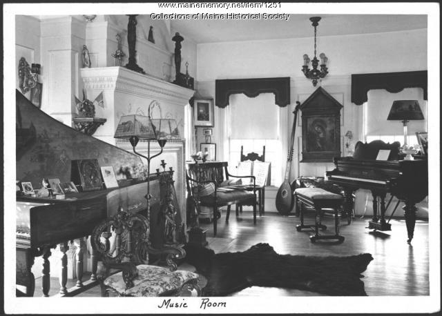 Music room, Ethelbert Nevin estate, Blue Hill, 1937