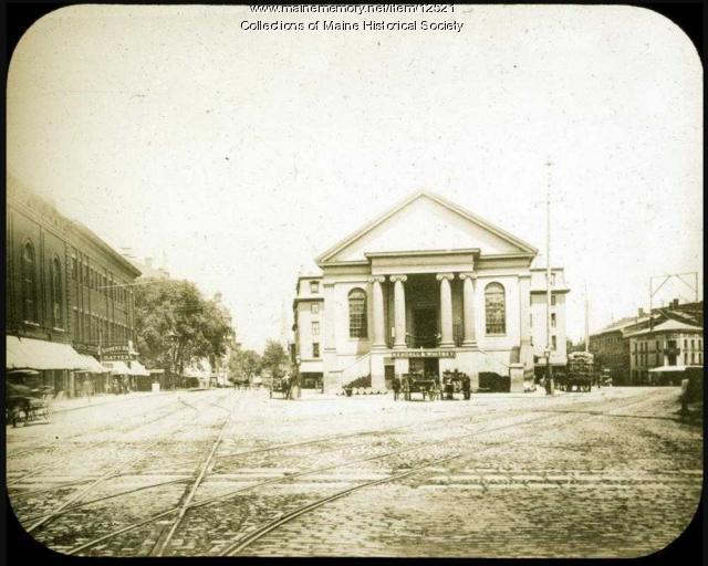 Market Square, Portland, ca 1880