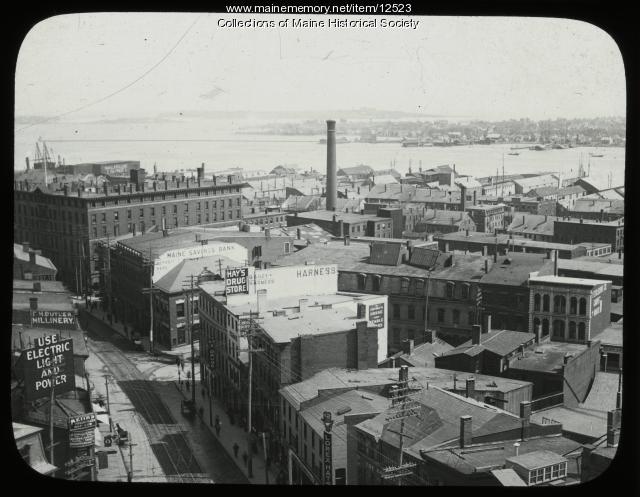 Cityscape of Portland, ca. 1900