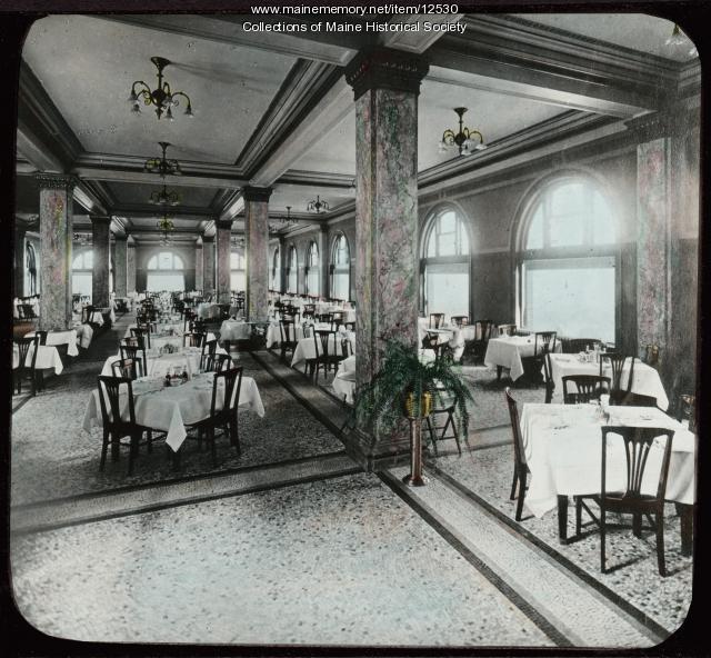 Hotel Dining Room: Congress Square Hotel, Dining Room, Portland, Ca. 1900